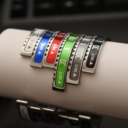 2019 edelstahl-mode-manschette Mens Top Qualität Armreif Edelstahl CUFF Speedometer Armband Mode Hip Hop Schmuck mit Kleinkasten für Männer Frauen rabatt edelstahl-mode-manschette