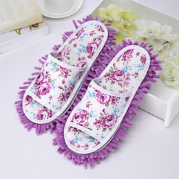 microfiber cleaning shoes Coupons - 2017 Women Dust Mop Slippers Microfiber House Clean Slippers Bedroom Shoes Cover Non-slip Flap Floor Shoes