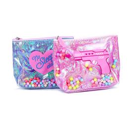 Bolsas de contas on-line-Verão Geléia Mulheres Zipper Coin Purse Color Beads Mini Bolsa À Prova D 'Água PVC Bolsa de Impressão Dos Desenhos Animados Sacos de Dinheiro Mudança Bolsa Carteira