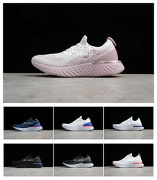 Wholesale green personality - Women Running Shoes Epic React Trainers Mens Sports Fashion Racing Runner Men Women Personality Trainer Comfort Basketball Shoes