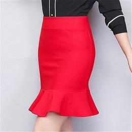 cute elástico cintura shorts mulheres Desconto Europa rússia verão nova tendência mulheres vermelho preto cor sólida bonito sexy rabo de peixe saia curta cintura alta elástico apertado saia babados