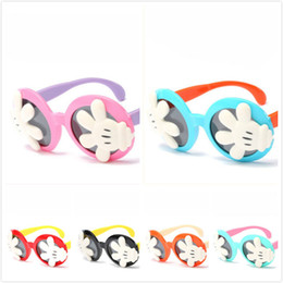Wholesale Baby Personalities - Fashion Cute Mickey Cartoon Glasses Personality Polarized Cute Baby Essential 2018 Latest Outdoor Children Sunglasses Flip