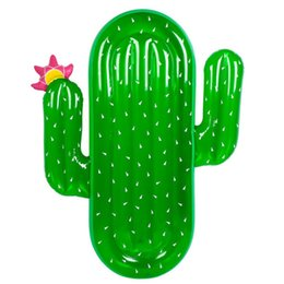 Vente de jeux gonflables en Ligne-Eau Fournitures Été Vente Chaude PVC Grand Cactus Gonflable Monte Flotteurs Cercle Natation Amusement Jeux De Plage Pad 70rl W