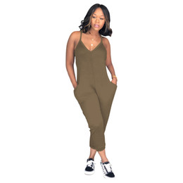 0419b380c8 XLLAIS Summer Stretchy Fabric Fashion Jumpsuits Women Sexy V Neck  Sleeveless White Rompers Womens Clothing Streetwear Jumpsuit