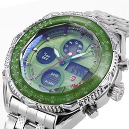 2019 акулы спортивные часы цифровые  Leather Box SHARK Sport Watch Mens Watches Top  Dual Time Day Steel Band Relogio LCD Quartz Digital Montre/SH109-112 скидка акулы спортивные часы цифровые