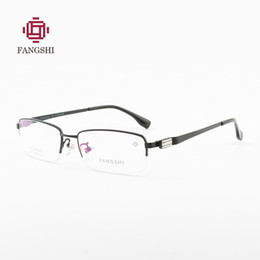 4c5f3c4683 FANGSHI Ultralight titanium half rim frame men spectacle frame fashion designer  brand clear myopia optical glasses  F88005