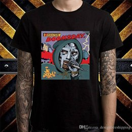Argentina Nueva 2018 moda de verano para hombre manga corta máquina de impresión cuello redondo Mf Doom operación camisetas cheap operation machine Suministro