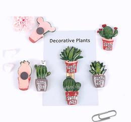 nevera individual Rebajas Plantas de cactus Imanes de Nevera Kawaii Pegatina Decorativa Imán de Nevera Pegatinas Magnéticas Decoración Del Hogar 7 Diseños FMR001-7
