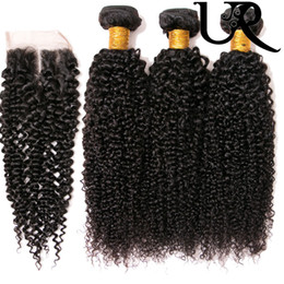 indain human hair Coupons - 8A 4x4 Closure Indain Human Virgin Kinky Curly Hair Extensions Unprocessed Indian Lace Top Closure with Baby Hair Free Middle 3 Part