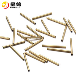 Wholesale jewelry spacer tubes - 2*25mm Smooth Tube Charms Spacer Beads for Jewelry gold color copper tube handmade Findgings Component Wholesale