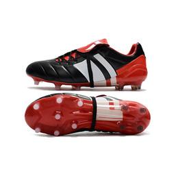 botas de couro originais do futebol Desconto 2018 chuteiras de futebol Predator Precision FG futebol sapatos Predator Mania botas de futebol de Champanhe chuteiras de futebol barato