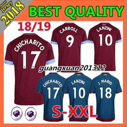 SIZE S-XXL 2018 new West Ham United home soccer Jersey 18 19 Thai quality  CHICHARITO CARROLL SAKHO away Football jerseys shirt e432d43af