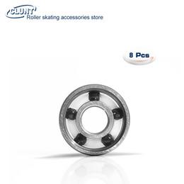 Wholesale ball roller bearing - 5 Balls Black Si3N4 Ceramic Bearing 608 Roller Skate Longboard Skateboard Bearings