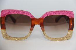 8505ce0ce47 Mulheres 0083S Tortoise Rosa Ouro Quadrado Óculos De Sol Gafas de sol  Designer de Óculos De Sol Oversize Óculos 0083 Novo com Caixa