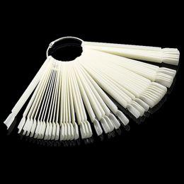 Mileegirl 50шт/УП пластиковые поддельные ногтей вентилятор-образный дисплей колесо практика советы палочки польский гель искусственные ногти искусства дизайн от