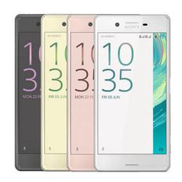 Xperia on-line-Recondicionado original sony xperia x f5121 5.0 polegada núcleo hexadecimal 3 gb 32 gb rom 23mp 4g lte desbloqueado android telefone celular livre dhl 5 pcs