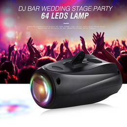 Wholesale red entertainment - Amazing Auto Sound Active 64 LEDs RGBW Light Disco light Club Party Show Hundreds of Patterns Dj Bar Wedding Stage Party Lights