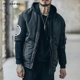 Wholesale japanese fashion winter coat - MRDONOO 2017 New Fashion Men Winter Jacket Male Keep Warm Coat Korean Hip-hop Loose Jacket Japanese Retro tide