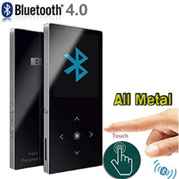 touch screen music player Promo Codes - Original BENJIE K8 Bluetooth mp3 player Touch Screen Ultra thin 8G Music Player Lossless HiFi Sound with Voice Record FM Radio