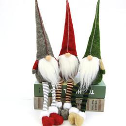 Décoration de Noël Mignon Assis Aux Longues Legf Festival Festival Nouvel An Dîner Fête Fenêtre Décorations De Noël pour La Maison Enfants Cadeaux ? partir de fabricateur