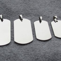 Wholesale Large Mirrors Wholesale - 100pcs lot Stainless Steel Army Dog Tags Military Fashion Men Pendants with mirror polished surface wholesale