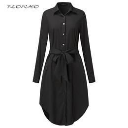 Cinturones midi online-Vestido de la blusa de manga larga de primavera vestido con cinturón Vestido de la mujer de mediana edad de gran tamaño Túnica retro Casual trabajo de oficina Vestidos más el tamaño 5XL