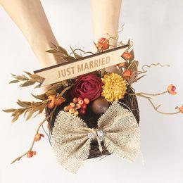 2019 cestas de flores para casamentos Titular do anel de casamento personalizado travesseiro ninho de pássaro travesseiros de noivado proposta de casamento decoração de casamento melhor presente da menina
