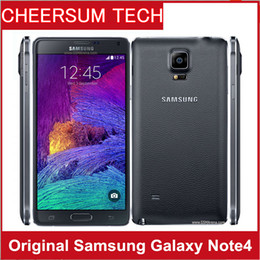 Wholesale Note Unlocked 3g - Samsung Note 4 N910 Original Unlocked Cell Phone with 16mp Camera 3gb Ram and 32gb Rom 3g 4g 5.7'' Touch refurbished phone 5pcs free DHL