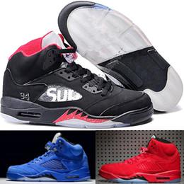 newest 7a149 823bb Comercio al por mayor Nuevo Nike air jordan 5 5s V Olímpico metálico Oro  Blanco Cemento Hombre Zapatillas de Baloncesto OG Negro Metallic Gamuza Rojo  Fuego ...