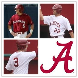Wholesale Free Ncaa - Custom Mens Alabama Crimson Tide ncaa Baseball AUSTEN SMITH 40 THOMAS BURROWS white red Personalized Jerseys adults size S-3XL free shipping