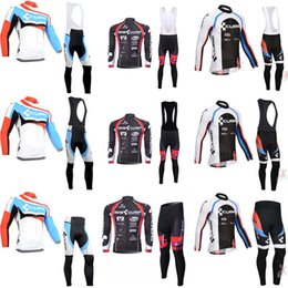 Wholesale Maillot Cube - New Cube Cycling Clothing Men Tour de france Cycling Jersey long sleeve jacket bike mtb maillot Bicycle Clothes bib pants sets C0907