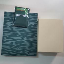Top Montre De Luxe Marque Vert Boîte Originale Papiers Cadeau Montres Boîtes Sac en Cuir Carte 0.8KG Pour Rolex Watch Box ? partir de fabricateur