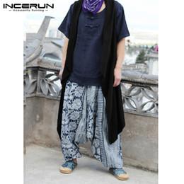 Hiphop Mens Jaquetas 2018 New Cardigan Sem Mangas Streetwear Elegante  Irregular Hem Hombre Vest Manto Solto X-Longo Trench Coats cardigans  elegantes dos ... 473b9d6ca