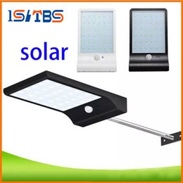 Wholesale Solar Powered Security Led Lights - Outdoor Street Waterproof Wall Lights 600LM 36 LED Solar Power Street Light PIR Motion Sensor Light Garden Security Lamp