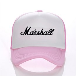 ball trends Coupons - The Marshall band printing net cap baseball cap Men and women Summer Trend Cap New Youth Joker sun hat Beach Visor