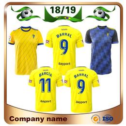 Uniformes amarelos on-line-18/19 Camisa de futebol Cadiz 2019 Cadiz Casa amarela # 9 BARRAL # 11 Camisa de futebol García fora PEREA Fernandez Mauro JONA uniforme de futebol