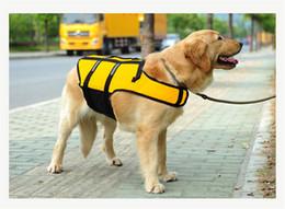 Wholesale Life Vests - Dog Life Jacket Pet Saver Life Vest Swimming Preserver Dog Puppy Swimwear Surfing Swimming Vest Reflective Stripes