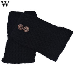 Wholesale Low Price Boot - 2017 new winter warmer lady women gril fashion Hot Sale Lowest Price Knitted Hollow Out Twill Leg Warmers Socks Boot Cover JUL19