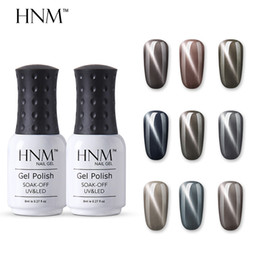 cat stamps Australia - HNM Newest Grey Cat Eye Nail Polish 8ML Stamping Paint Nail Polish Nagellak Vernis a Ongle Soak Off Hybrid Varnish