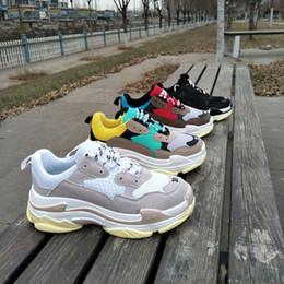 Wholesale Men S Soccer Shoes - 17FW Tripe-S Retros Running Shoes Paris HOME Harajuku Casual Sneaker Street Thick Platform Shoes Student Sports Shoe Lovers