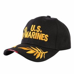 2d897f4c3e2 Discount marine hats caps - Adjustable Baseball Cap Fashion Tactical Cap  Embroidered Snapback Hat Men Visor