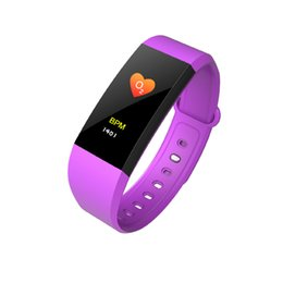 Wholesale used lcd monitors - I9 Smart Wristbands fitbit fitness tracker 0.96 inch LCD Screen smart Bracelet Watch Heart Rate Blood Pressure Monitor