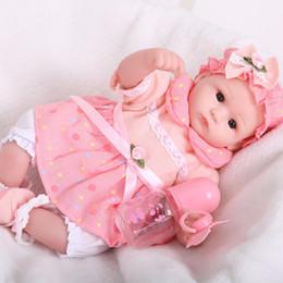 40 cm Yumuşak Vücut Viny Reborn Bebek Bebek Oyuncak Kızlar Için Yeni Doğan Kız Bebek Doğum Günü Hediyesi Çocuk Yatmadan Erken Eğitim Oyuncak nereden