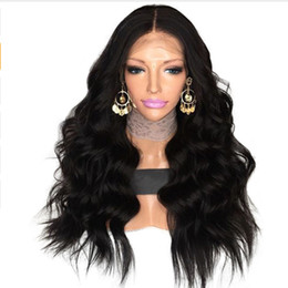 Wholesale Blonde Short Hair Styles - New Style Natural Soft Black Curly Wavy Wigs Heat Resistant Lace Front Human Hair Wigs Glueless Brazilian Full Lace Wigs for Black Women