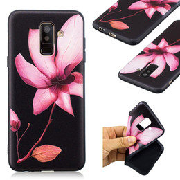 Per Galaxy (J4 J6 A6 Plus) 2018 Cute Flower TPU morbida Custodia Bling Animal Butterfly Silicone Gufo Panda Cartoon Black Copertura del telefono Coque da