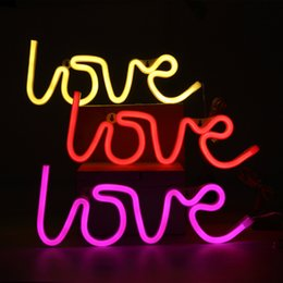 Wholesale 24v Neon - LED Neon Sign Light,Love Sign Shaped Decor Light,Wall Decor for Chistmas,Birthday party,Kids Room, Living Room, Wedding Party Decor