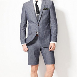 Wholesale harris tweed 48 - 2018 Short Men Wedding Suits Two Buttons Two Pieces with Pants Wool Blend Tuxedos Three Packets Fashion Groom Business Career Suits