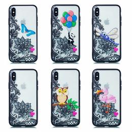 Farfalla di paisley online-Caso di pizzo fiore di rilievo di lusso per Iphone XR XS MAX X 10 8 7 Plus 6 6S Henna Paisley Mandala Hard PC + TPU morbido Gufo Panda Butterfly Back Cover