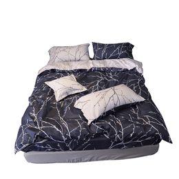 Wholesale Full Comforter Set Boys - Simple Fashion Sanding Cotton Striped Printing Duvet Cover Sheet Set Blue and White Bedding Set 4pcs Set for Men,Boy,Adult
