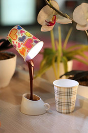 Wholesale Pour Home - Creative DIY Coffee Cup Lampshade LED Down Cup Night Lamp Home USB Battery Pouring Table Light for Study Room Bedroom Decoration